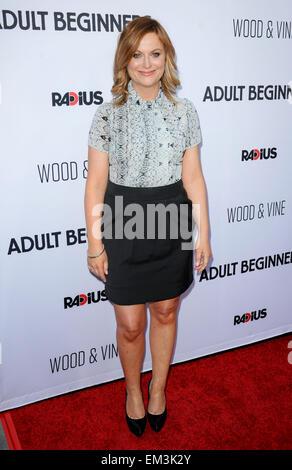 Los Angeles, Californie, USA. Apr 15, 2015. Amy Poehler débutants adultes Film Premiere, 15 avril, 2015. Dpa: Crédit Banque D'Images