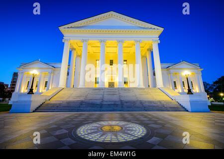 Capitole de l'État Richmond à Richmond, Virginie, USA. Banque D'Images