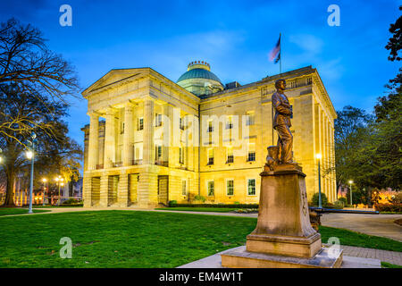 Raleigh, Caroline du Nord, USA State Capitol Building. Banque D'Images