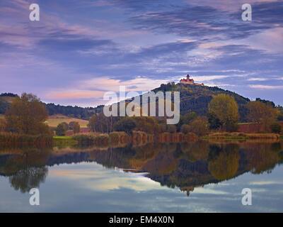 Château de Wachsenburg près de Muehlberg, Thuringe, Allemagne Banque D'Images