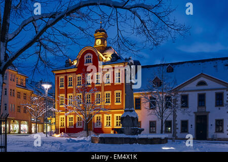 Hôtel de ville de Suhl, Thuringe, Allemagne Banque D'Images