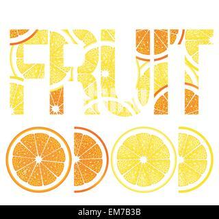 Les agrumes, les citrons et les oranges Banque D'Images