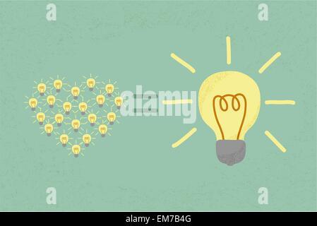 De nombreuses petites idées égale une grande idée , format vectoriel EPS10 Banque D'Images