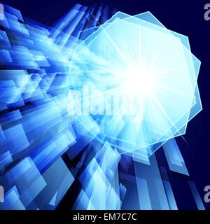 Abstract background vector techno. Eps 10 Banque D'Images