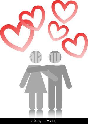 couple amoureux Banque D'Images