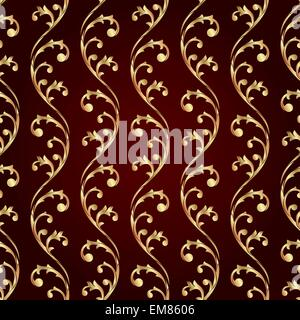 Vintage floral motif transparent Banque D'Images
