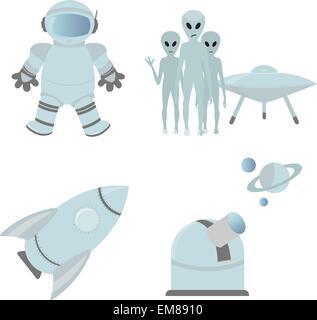Icônes de l'espace Banque D'Images