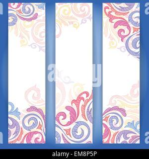 Ensemble de bannières colorées. Banque D'Images
