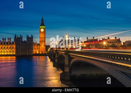 Big Ben et des chambres du parlement, Londres Banque D'Images