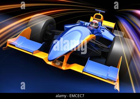 Race car sans nom de marque est conçu et modélisé par moi-même Banque D'Images