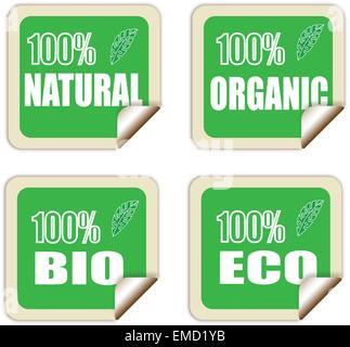 Naturels, biologiques, bio et éco-labels Banque D'Images