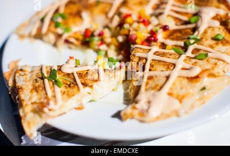 Quesadillas au homard Banque D'Images