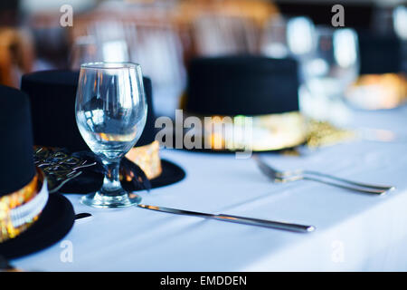 Réglage de la table de fête de Noël Banque D'Images
