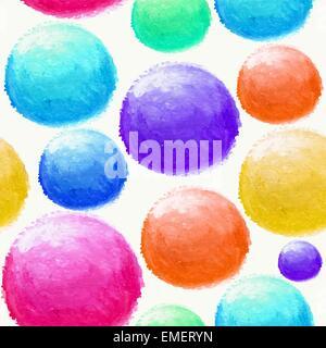 Aquarelle coloré motif transparent balle Banque D'Images