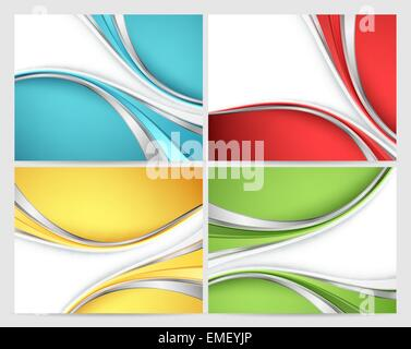 Abstract vector set horizons Banque D'Images