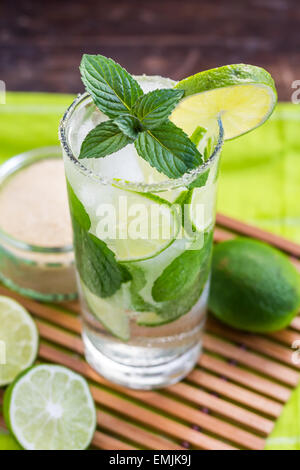 Lime Mojito cocktail sans alcool