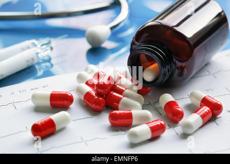 Les médicaments sur ordonnance Banque D'Images