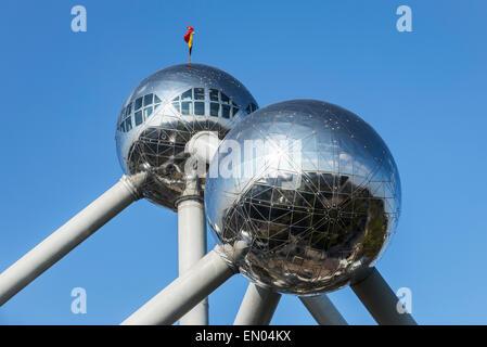 L'Atomium, bâtiment à Bruxelles a l'origine construit pour Expo 58, l'Exposition Universelle de Bruxelles de 1958 en Belgique