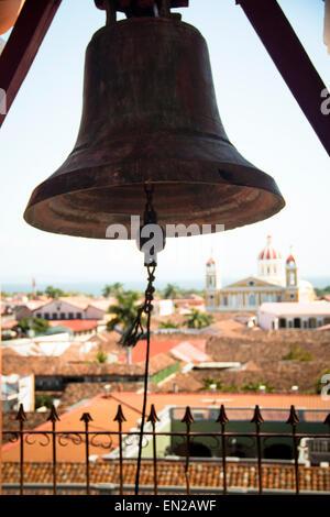 Cloche de Iglesia de la Merced à Granada, Nicaragua Banque D'Images