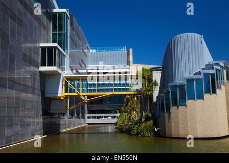Le Musée Te Papa Tongarewa, de la Nouvelle-Zélande, Wellington, Île du Nord, Nouvelle-Zélande Banque D'Images