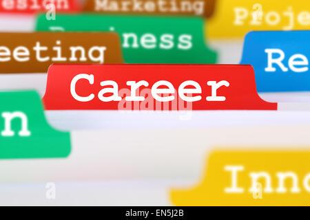 Succès de carrière et le développement business concept Banque D'Images