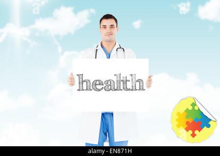 Contre le ciel bleu de la santé Banque D'Images