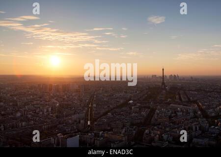 Avis d'un haut de la Tour Eiffel Banque D'Images