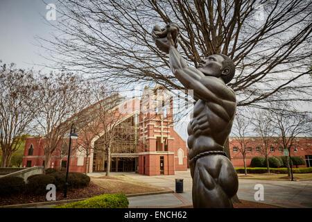 Atlanta en Georga USA 'Voici', Martin Luther King, Jr., Lieu historique national, Atlanta, Géorgie (États-Unis). Statue de 12 pieds de Kunt