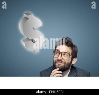Portrait conceptuel d'un jeune homme ringard Banque D'Images