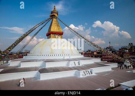Stupa boudhanath à Katmandou Banque D'Images
