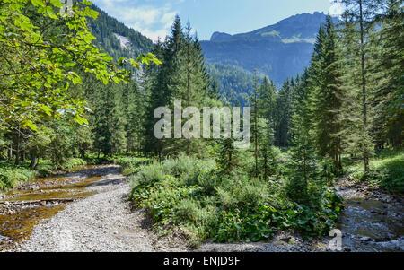 Vacances à Altaussee dans le cadre enchanteur de la région du Salzkammergut, où vous trouverez des dizaines de chemins Banque D'Images