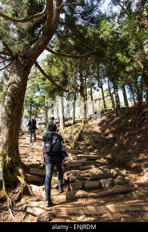 L'escalade du Mt.Ooyama Isehara,ville,la préfecture de Kanagawa, Japon, Banque D'Images