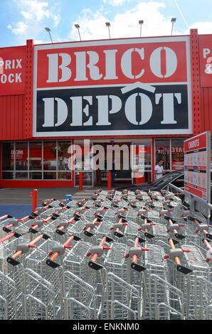 Brico Dépôt, magasin de bricolage, France Banque D'Images