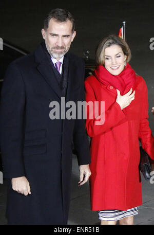 Koenig Felipe VI, Koenigin Letizia von Spanien - Treffen der dt. Bundeskanzlerin mit dem Koenigspaar, 'Der stumme, Banque D'Images