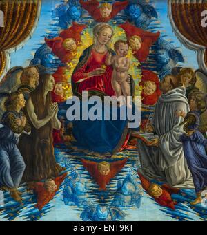 Vierge à l'enfant en gloire, entourés de Sainte Marie Madeleine et par Saint Bernard 26/09/2013 - Collection Banque D'Images