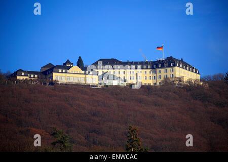 Im Steigenberger Petersberg Siebengebirge mit Grand Hôtel à Koenigswinter Gaestehaus am Rhein, der Bundesregierung Banque D'Images