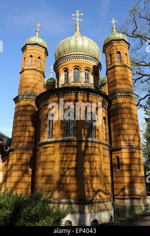 La Chapelle Orthodoxe Russe dans le cimetière historique de Weimar, Allemagne. La chapelle a été construite au 19ème Banque D'Images