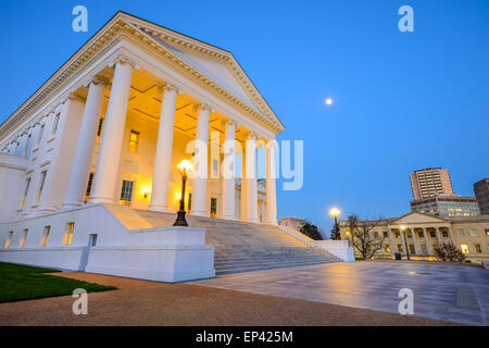 Richmond, Virginie, USA au bâtiment du Capitole.