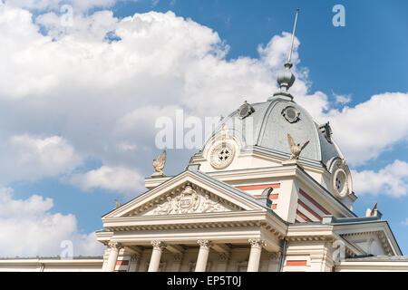 Le bâtiment d'origine de l'Hôpital Coltea a été construit en 1704 mais a été détruit par un séisme en 1802 et fut Banque D'Images