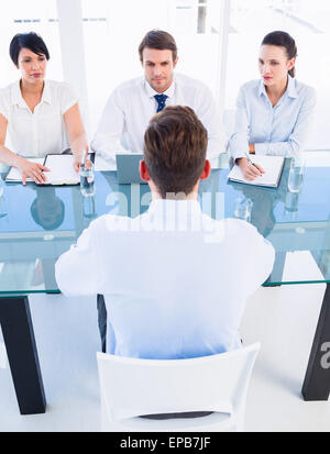 Recruiters checking the candidate during job interview Banque D'Images