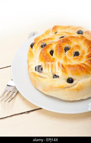 Pain dessert gâteau aux bleuets Banque D'Images