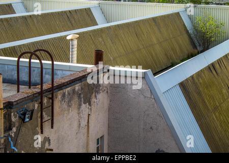 Les toits d'usine Banque D'Images