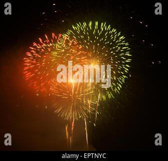 Washington DC. 7-4-2006 Fireworks sur DC. Affichage annuel organisé par l'US Park Service.vu de la Virginie de côté Banque D'Images