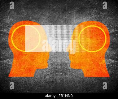 La télépathie concept illustration numérique Banque D'Images