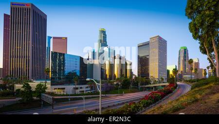Los Angeles, souvent connu par ses initiales L.A., est la ville la plus peuplée de l'état américain de Californie. Banque D'Images
