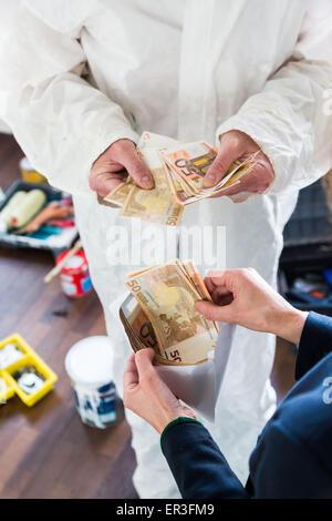 Travailler illégalement. Banque D'Images