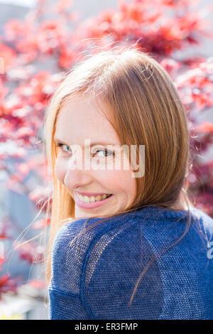 Portrait d'une jeune femme. Banque D'Images