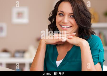 Beauté naturelle de jeune femme. Debica, Pologne Banque D'Images