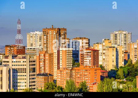 Madrid, Espagne Les immeubles de grande hauteur dans le quartier de Chamartin. Banque D'Images