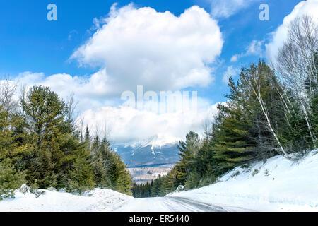 Le mont Katahdin, vue à partir de la route d'Or Banque D'Images